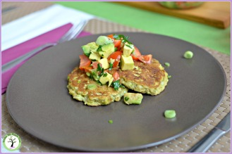 Avocado and green onions pancake recipe