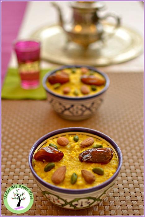 Saffron and orange blossom rice pudding recipe